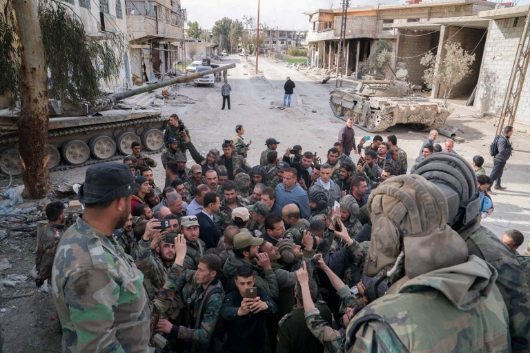 TOPSHOTS - SYRIA - CONFLICT - GHOUTA - ASSAD